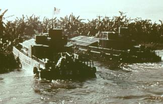 Navy Armored Troop Carriers (ATC) were used to take 9th Infantry soldiers and Vietnamese Marines into combat throughout the Delta.