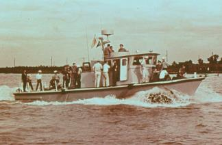 The Vietnamese Navy began producing a ferro-cement version of the Swift Boat in December 1969.