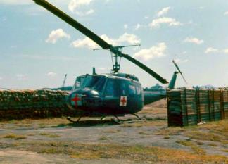 A 'Dust Off' Chopper stationed with the 1st Cav.