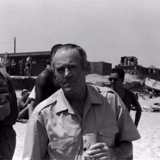 Actor Henry Fonda visiting the troops at Qui Nhon.