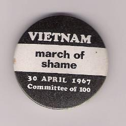 Vietnam March of Shame Badge