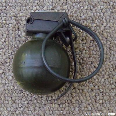 "The V40 mini fragmentation grenade was produced by Nederlandse Wapen en Munitiefabriek of Holland and was named the ""Hooch Popper"" by SOG teams."