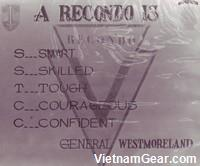 A RECONDO is smart, skilled, tough, courageous and confident