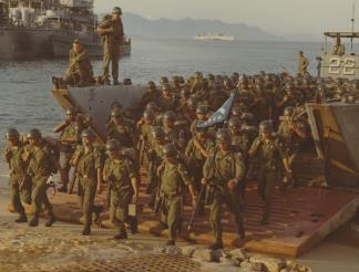 The first elements of the Korean 9th (White Horse) Division come ashore at Nha Trang (II Corps).