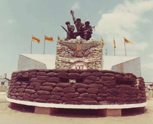 A monument located in the Corps HQ compound on the outskirts of Bien Hoa, commemorating the Vietnamese soldiers who fought in the III Corps Tactical Zone (CTZ).