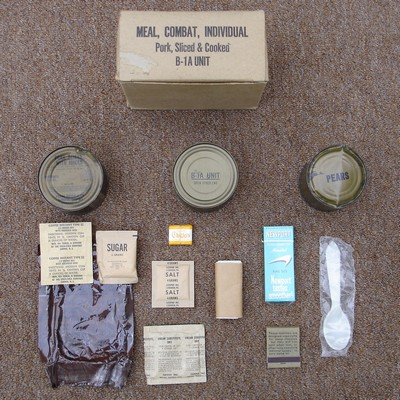 Each individual C-Ration meal was packed in a cardboard box.