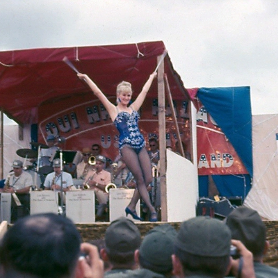 Diane Shelton at the 1966 Christmas Show in Qui Nhon.
