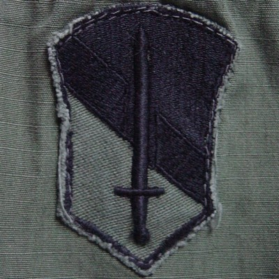 A variaton of a subdued Field Force I shoulder sleeve insignia.