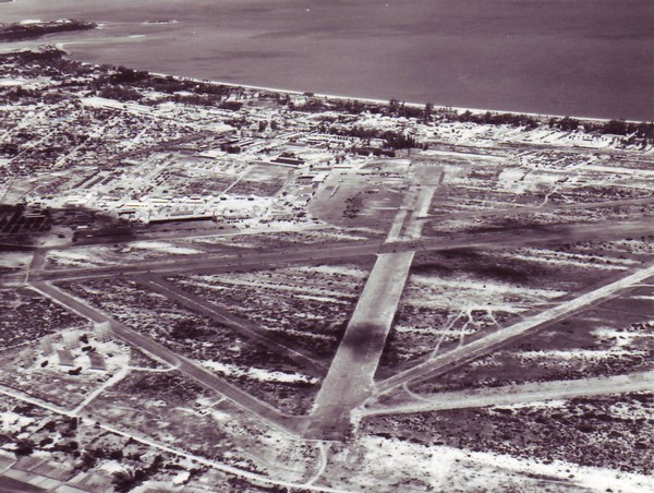 Aerial view of Nha Trang Air Base within the Khanh Hoa Province in Southern Vietnam.