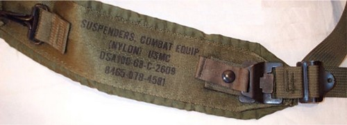 The USMC M1967 suspenders featured quick release buckles carried over from the design of the experimental XM1964 pack.